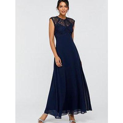 Monsoon Lolita Lace Maxi Dress - Navy