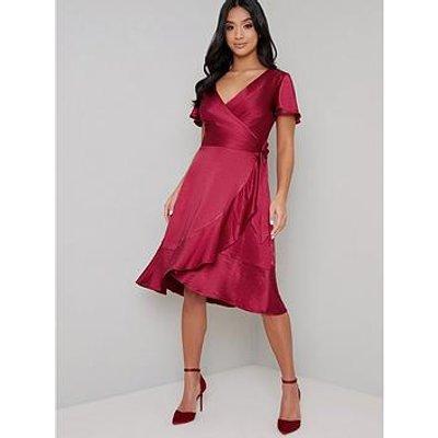 Chi Chi London Petite Chrysta Dress - Red
