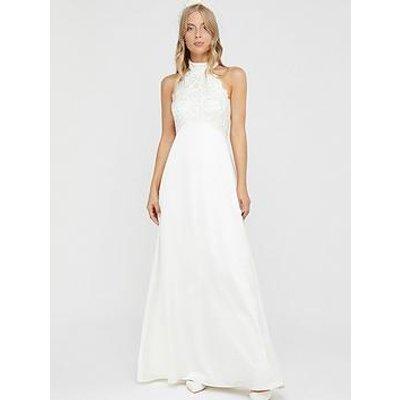 Monsoon Flora Bridal Embellished Lace Halter Maxi Dress - Ivory