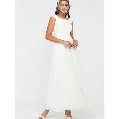 Monsoon Emmeline Bridal Bardot Embellished Maxi Dress - Ivory