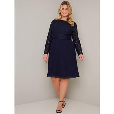 Chi Chi London Curve Rene Dress - Navy