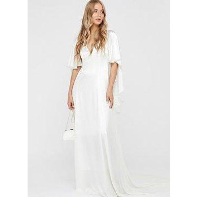 Monsoon Vera Bridal Cape Maxi Dress - Ivory