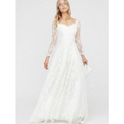 Monsoon Cecily Bridal Bardot Lace Maxi Dress - Ivory