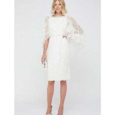 Monsoon Dora Bridal Embellished Short Dress - Ivory