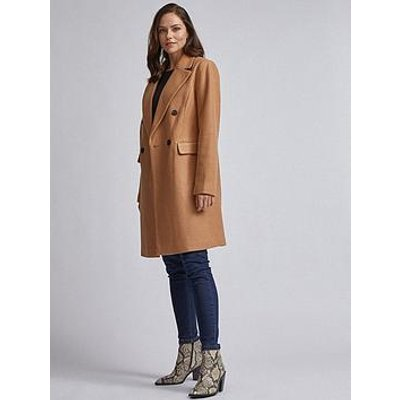 Dorothy Perkins Double Breasted Coat - Brown