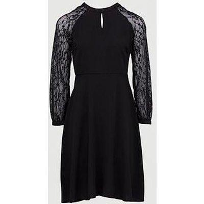 Dorothy Perkins Lace Midi Dress - Black