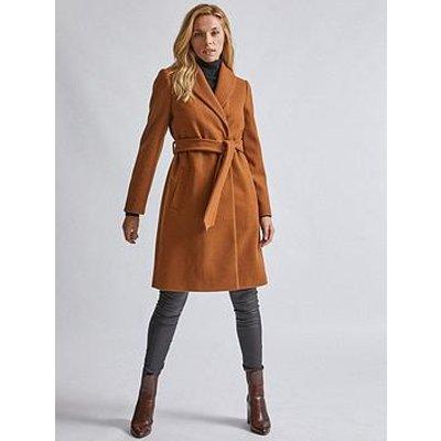 Dorothy Perkins Shawl Wrap Coat - Camel