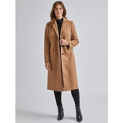 Dorothy Perkins Fitted Coat - Camel
