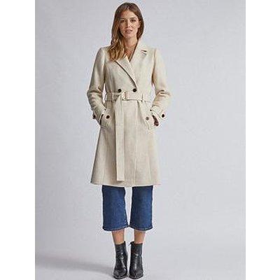 Dorothy Perkins Winter Wrap Coat - Cream