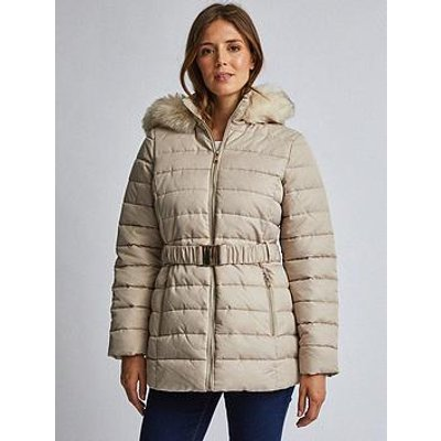 Dorothy Perkins Dorothy Perkins Luxe Short Padded Jacket - Beige