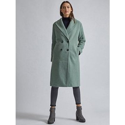 Dorothy Perkins Dorothy Perkins Relaxed Double Breasted Coat - Sage