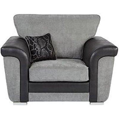 Manhattan Fabric And Faux Snakeskin Armchair
