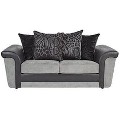 Manhattan Fabric And Faux Snakeskin Scatter Back Sofa Bed