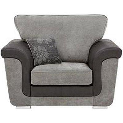 Vidal Fabric And Faux Snakeskin Armchair