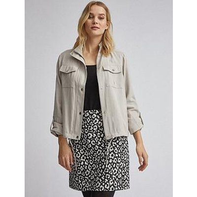 Dorothy Perkins Relaxed Shacket - Stone
