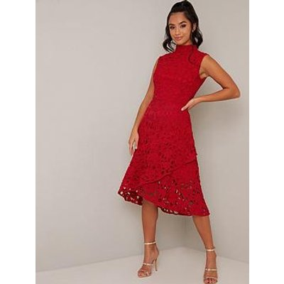 Chi Chi London Petite Malin Dress - Red