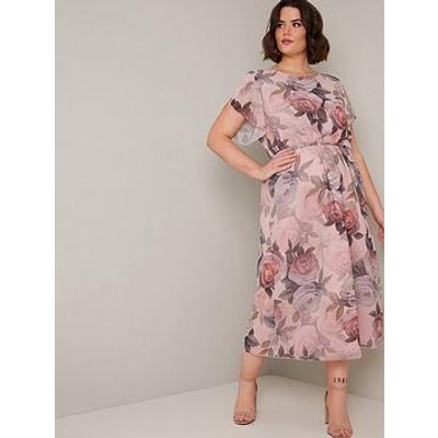 Chi Chi London Curve Shantal Dress - Pink