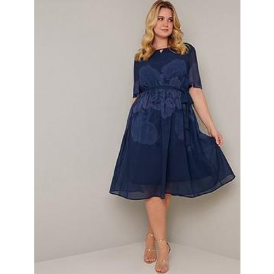 Chi Chi London Curve Seymour Dress - Navy