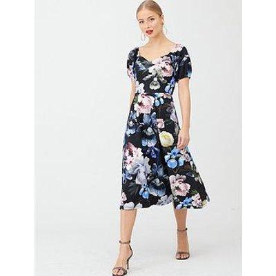 V By Very Bardot Scuba Prom Dress - Floral