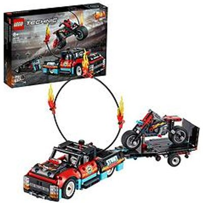 Lego Technic 42106 Stunt Show Truck &Amp; Bike With Pull-Back Motor 2In1