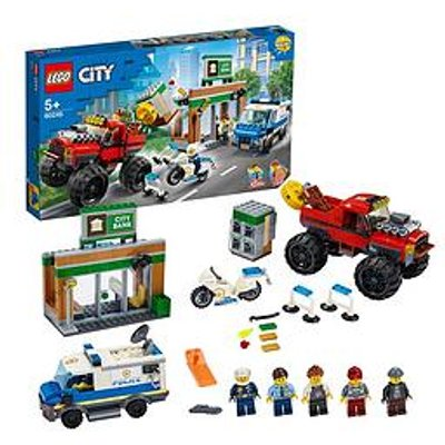 Lego City 60245 Police Monster Truck Heist With Van And Motorbike