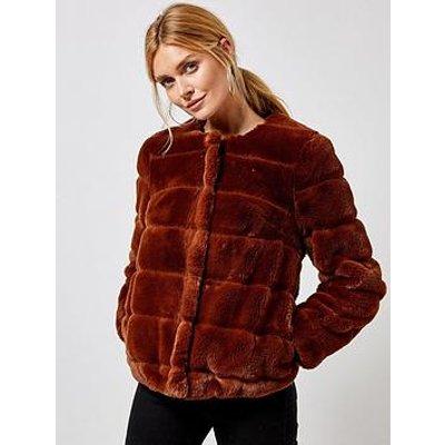Dorothy Perkins Dorothy Perkins Tan Short Faux Fur Jacket