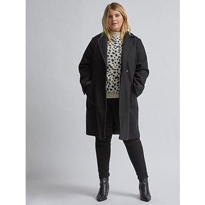 Dorothy Perkins Dorothy Perkins Curve Black Pocket Wrap Coat