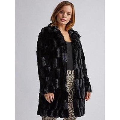 Dorothy Perkins Dorothy Perkins Petite Black Faux Fur Jacket - Black