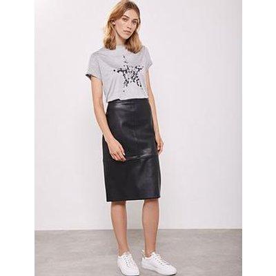 Mint Velvet Pu Pencil Skirt