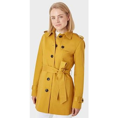 Hobbs Wool Saskia Trench Coat - Gold