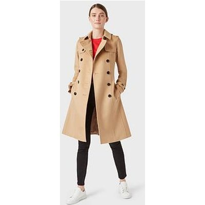 Hobbs Wool Saskia Trench Coat - Camel