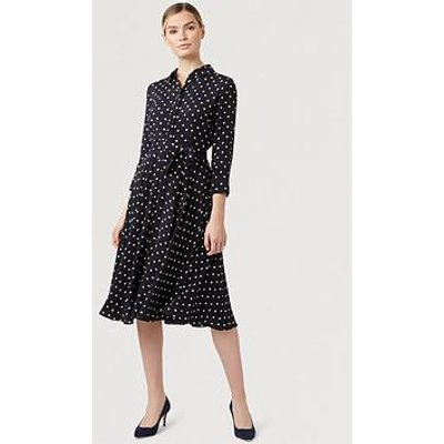 Hobbs Lainey Dress - Navy/Bamboo