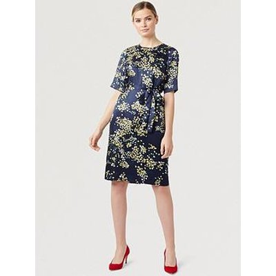 Hobbs Madeline Jacquard Dress - Midnight Multi