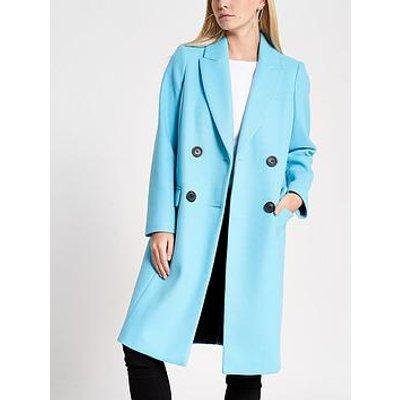 Ri Petite Longline Coat - Blue