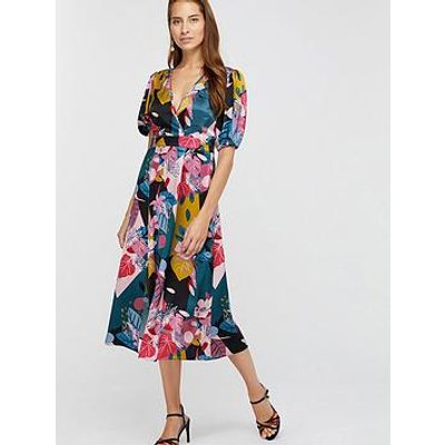 Monsoon Rhi Rhi Print Tea Dress - Teal