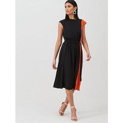 Boss Casual Midi Length Silk Dress - Black