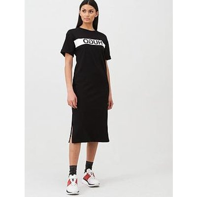 Hugo Printed Block Dress - Black