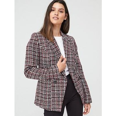 V By Very Boucle Military Jacket - Multi