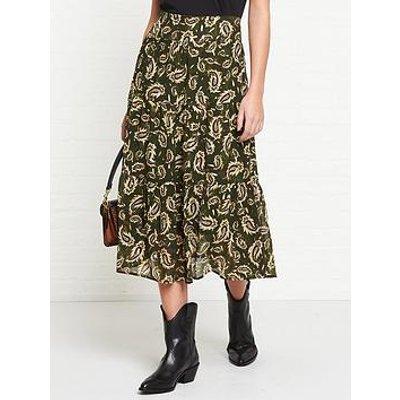 Sofie Schnoor Solvej Leaf Printed Midi Skirt - Green