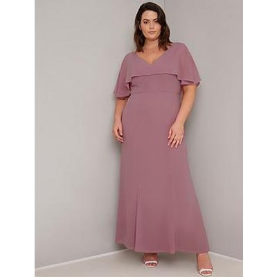 Chi Chi London Curve Albanie Dress - Pink