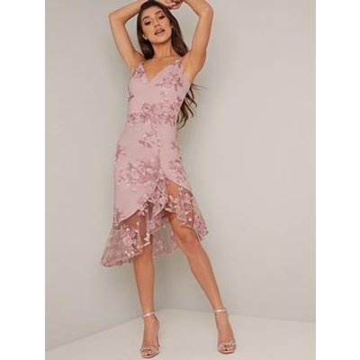Chi Chi London Lilliana Dress - Mink