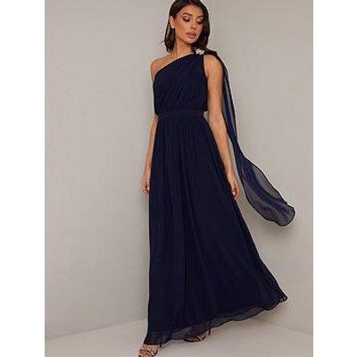 Chi Chi London Petrina Dress - Navy