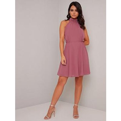 Chi Chi London Petite Katniss Dress - Pink