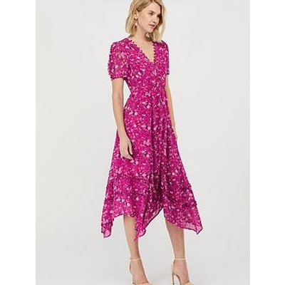 Monsoon Sustainable Viscose Print Dress - Pink