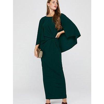 Monsoon Cara Cape Maxi Dress - Green
