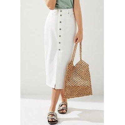 Levi'S Button Front Midi Skirt - White
