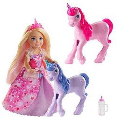Barbie Dreamtopia Chelsea Princess Doll And Baby Unicorns