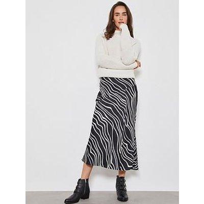 Mint Velvet Mila Print Slip Skirt - Multi