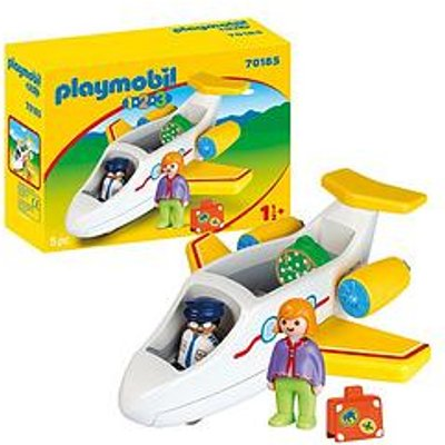 Playmobil 1.2.3 70185 Plane With Passenger For Children 18 Months+