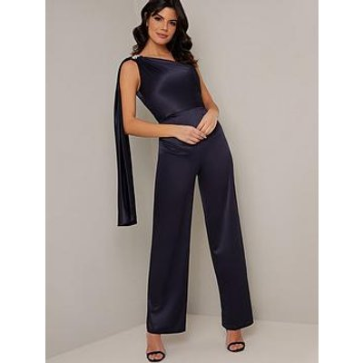 Chi Chi London Keily Jumpsuit - Navy